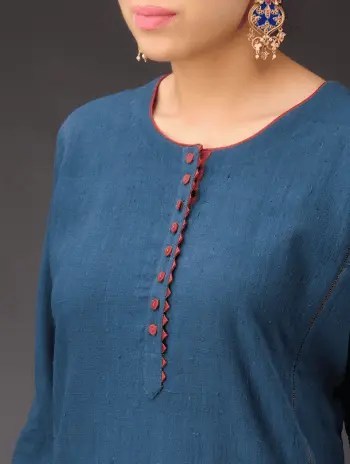 Latest Kurti Neck Designs for Your Gorgeous Look Round Neck Design