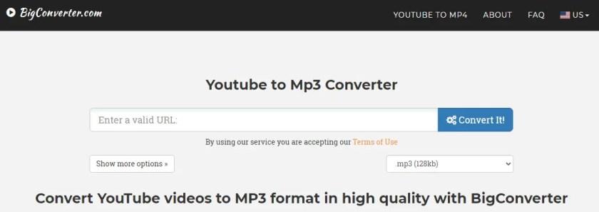 Big Converter - Youtube to Mp3 Converter