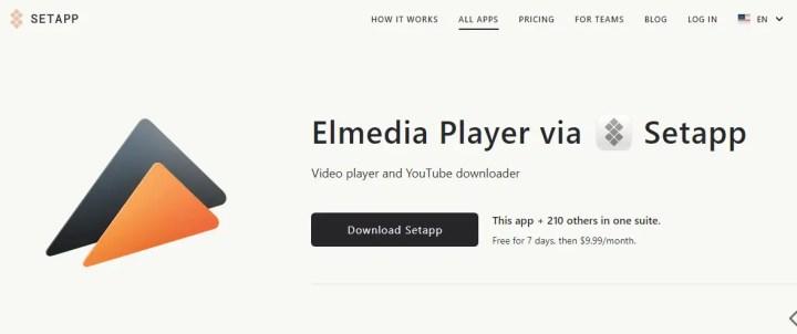 Elmedia Player via Setapp to download YouTube to mp3