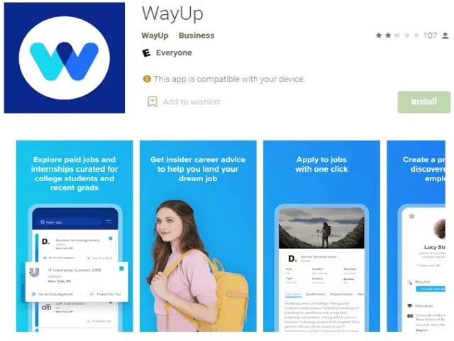 WayUp Jobs Best job search apps