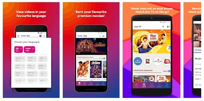 What Are The Best Android TV Apps In 2021 Tata Sky Mobile- Live TV, Movies, Sports, Recharge