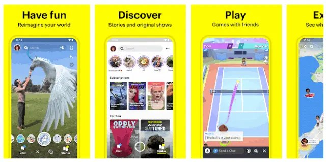 Top 6 Best Apps of 2021 SnapChat