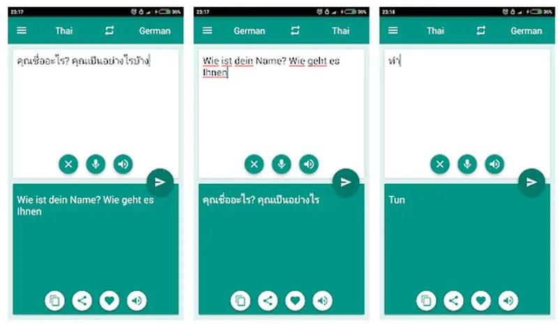 Best Thai Translator App For Android 2021 German-Thai Translator