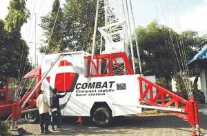 Combat, Compact Mobile Base Station milik telkomsel.