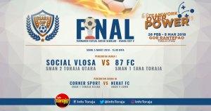 Final Osara Cup V Pertemukan SMANSA Tana Toraja vs SMADA Toraja Utara