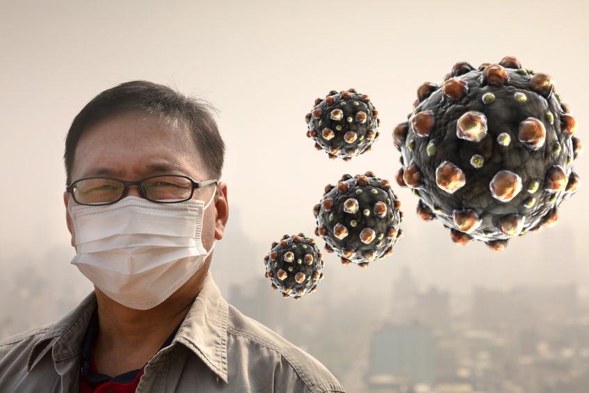 sarampo poluição china