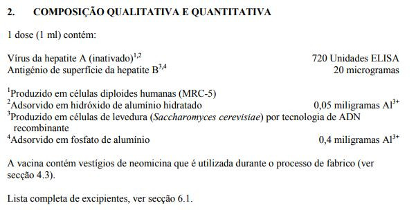 Twinrix Adulto (hepatite A (inativada) e hepatite B (ADNr) (HAB))