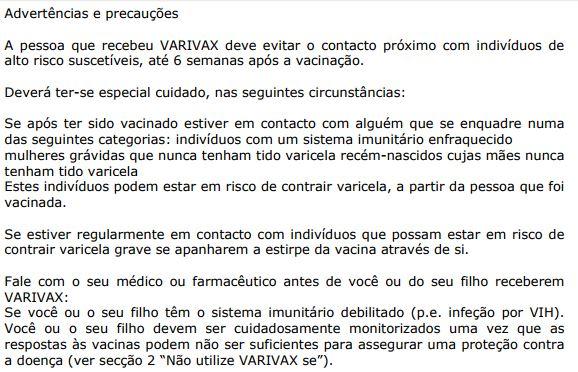 Varivax (varicela)