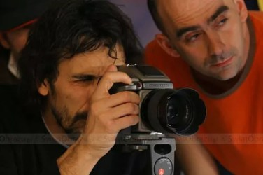 Eugenio Recuenco за съемкой