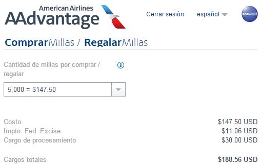 AAdvantage_Costo_Comprar_5.000_Millas