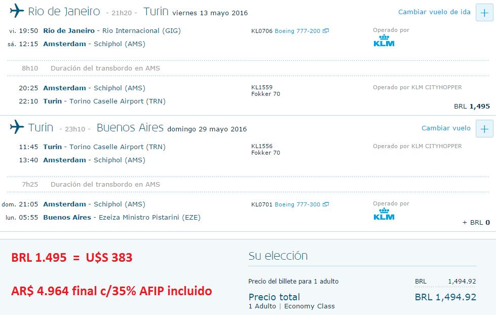 KLM-ALITALIA_GIG-TRN-EZE_2016.05