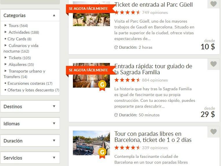 GetYourGuide_Tours_Actividades_Barcelona_Categorías