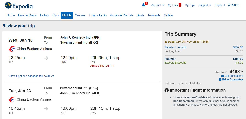 Buscando vuelos a precios razonables para llegar a Tailandia