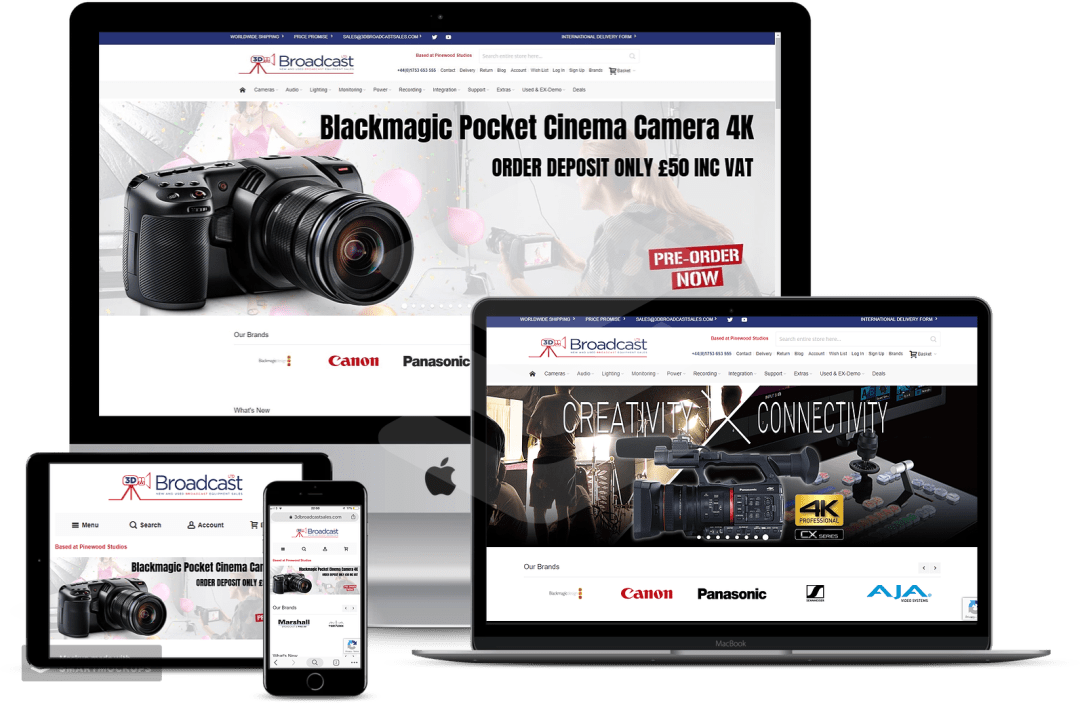 Migration of Magento 1.x to Magento 2 for 3D Broadcast Ltd