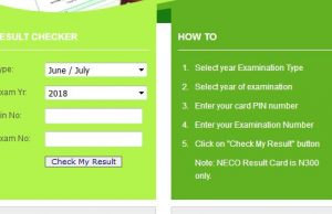 Check NECO Result 2018