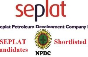 Seplat Scholarship Shortlisted Candidates