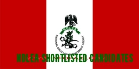 Check NDLEA Shortlisted Candidates
