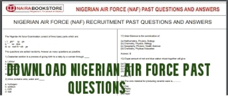Download Nigerian Air force Past Questions
