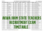 Akwa Ibom State Teachers Recruitment Exam Timetable