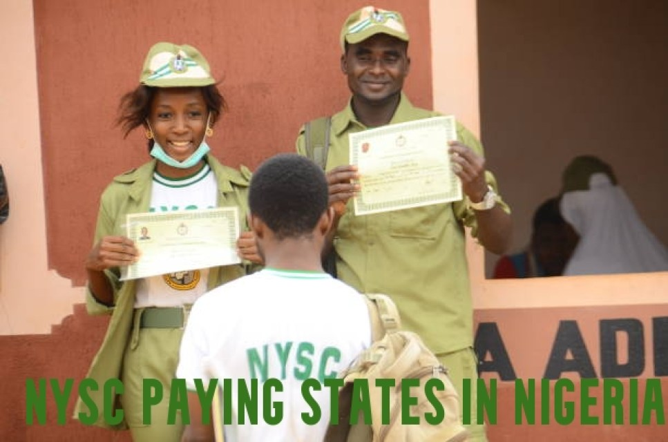 NYSC Paying States in Nigeria
