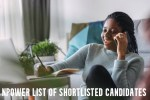 Npower List of Shortlisted Candidates 2021