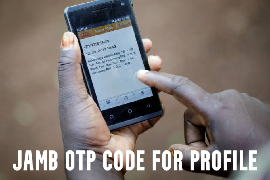JAMB OTP Code for Profile
