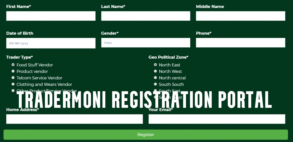 Tradermoni Registration Portal