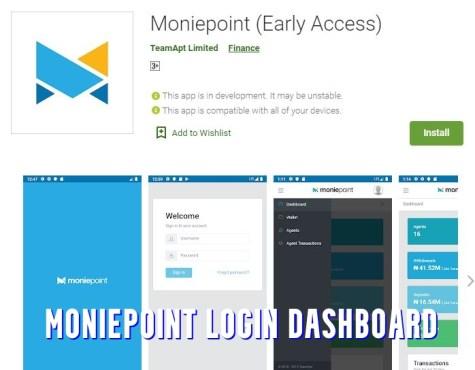 Moniepoint Login Dashboard
