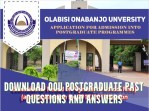 Download OOU Postgraduate Past Questions and Answers