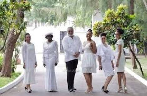 Beautiful photos of all four children former president Rawlings left behind