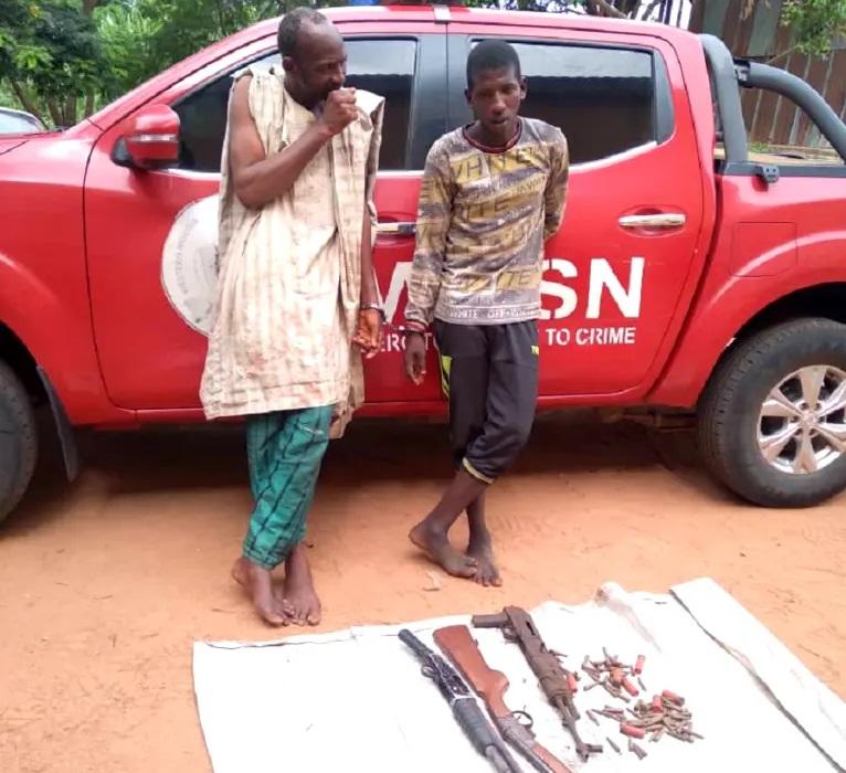 Deadly Fulani Bandits Saliu, Suleiman Busted With AK-47 Rifle In Oyo