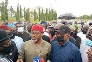 Just In: Abaribe, Others Storm NASS For Protest