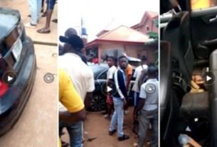 Policemen Shot Man Inside 4matic 300 In Asaba, Carried Away His Dead Body - Eyewitness (Photos)