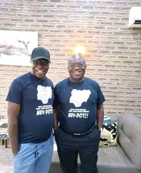 BREAKING: Governor Ikpeazu Wears Dot Nation T-Shirt (Photo)