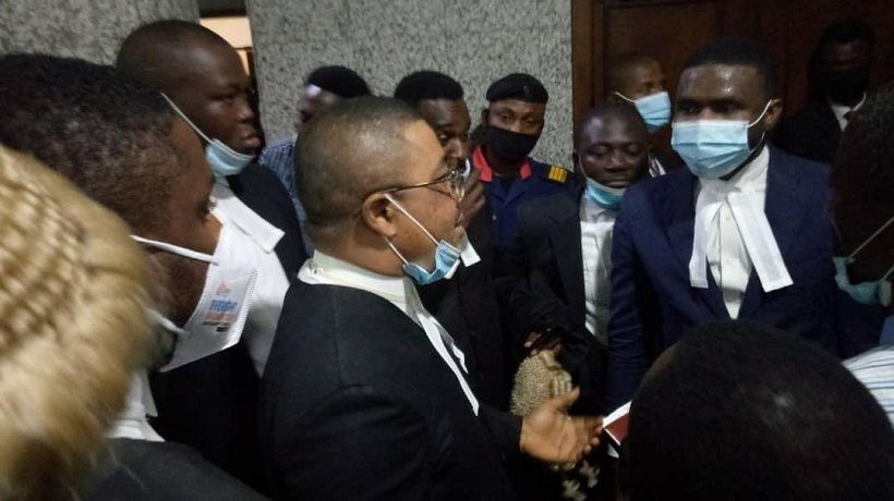 Photos gathered from Abuja Court during Nnmadi Kanu's trial