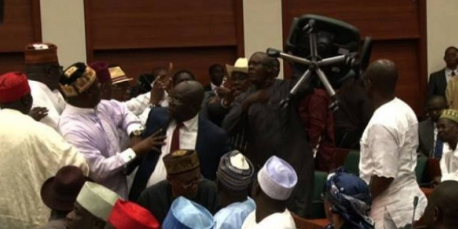 BREAKING: Motion To Divide Nigeria Sets Senate House On Fire (VIDEO)