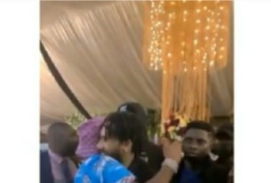 TOUCHING VIDEO! The moment Phyno and Davido saw each other at Obi Cubana mother's burial, see what they did