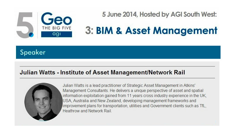 Julian Watts - The Big 5 BIM Asset Management Conference