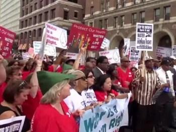 Detroit Protest Water Shut