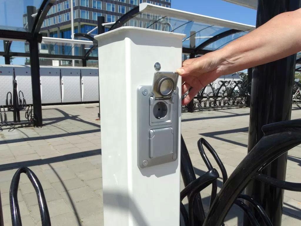E-Bike oplaadpunt vooraanzicht