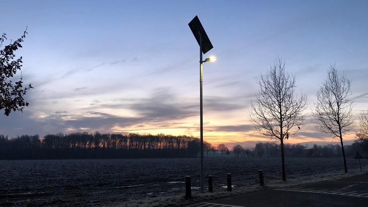 Lichtmast zonne-energie