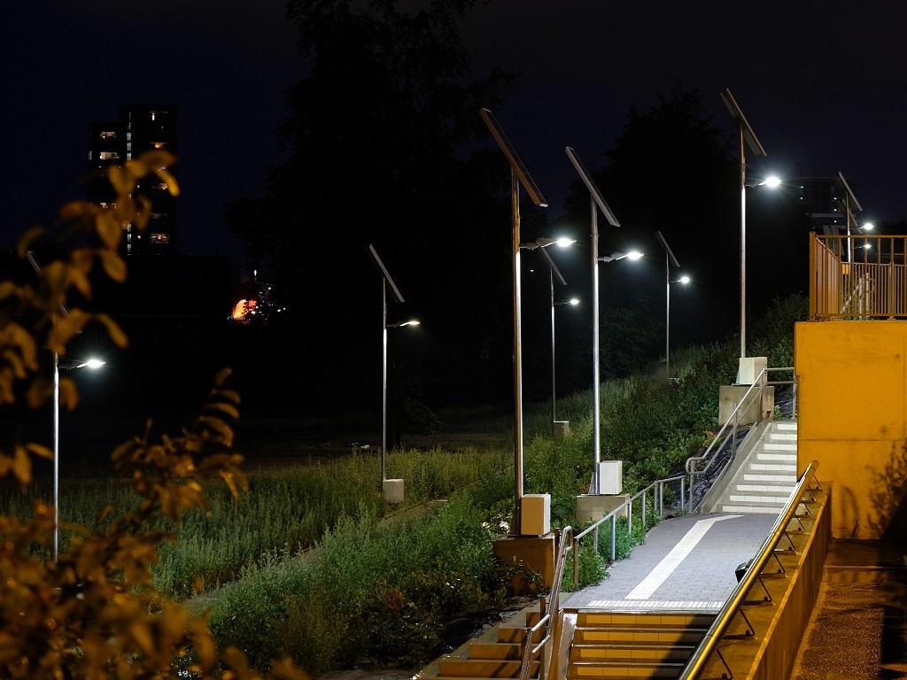 Mobiele lichtmasten solar nacht