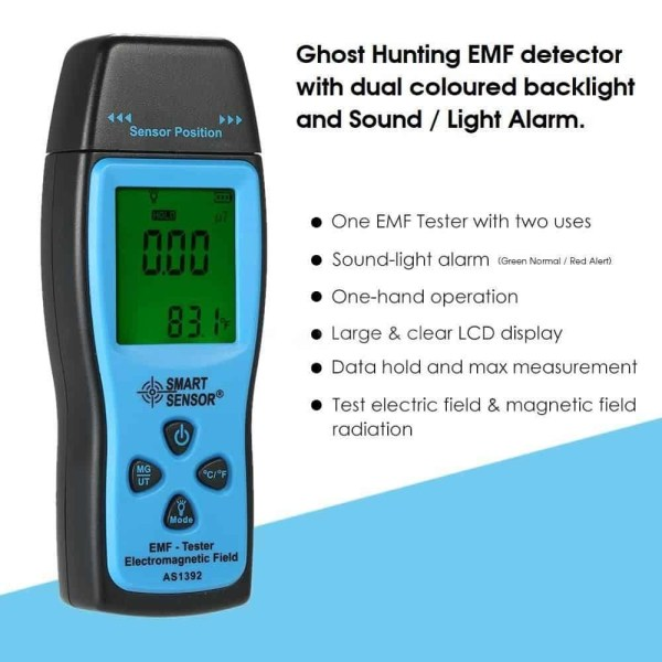 as1392 emf meter paranormal ghost hunting trigger device