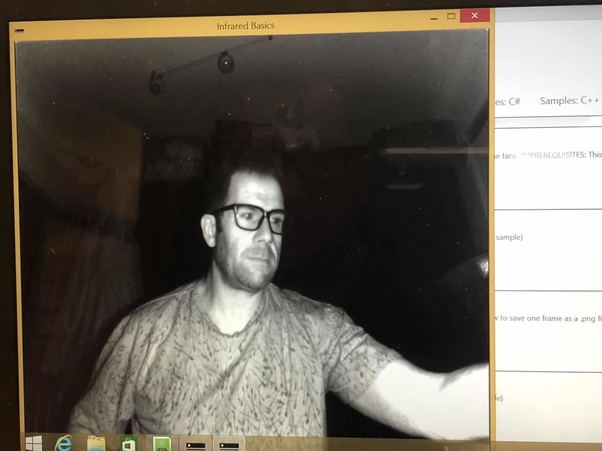 Kinect SLS v2 ghost hunting tablet pc
