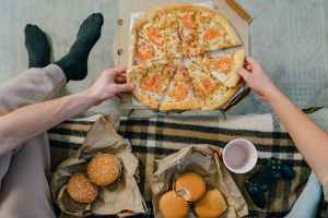 bread food pizza man