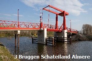 3 bruggen Schateiland Almere