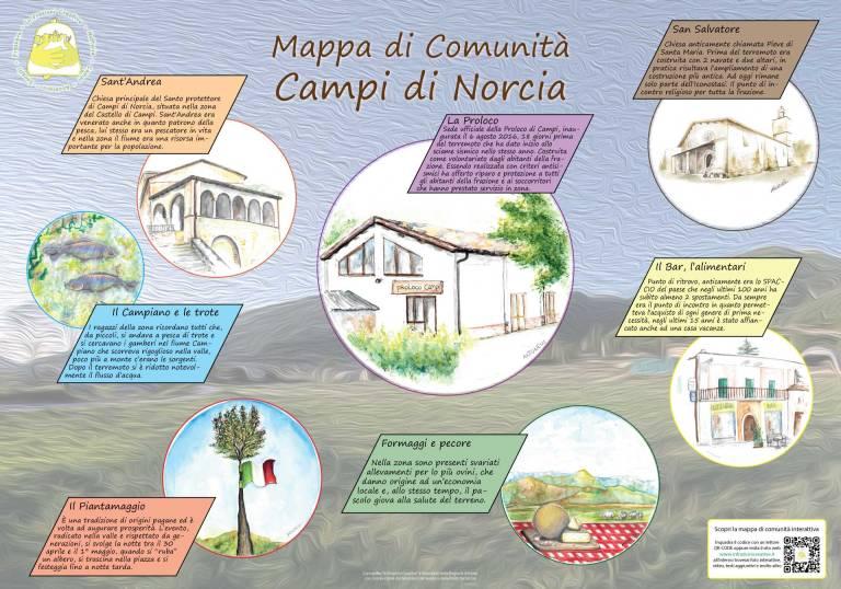 Mappa di comunità di Campi in parole