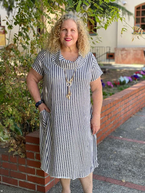 Blue Sky Hester Dress Navy Stripe