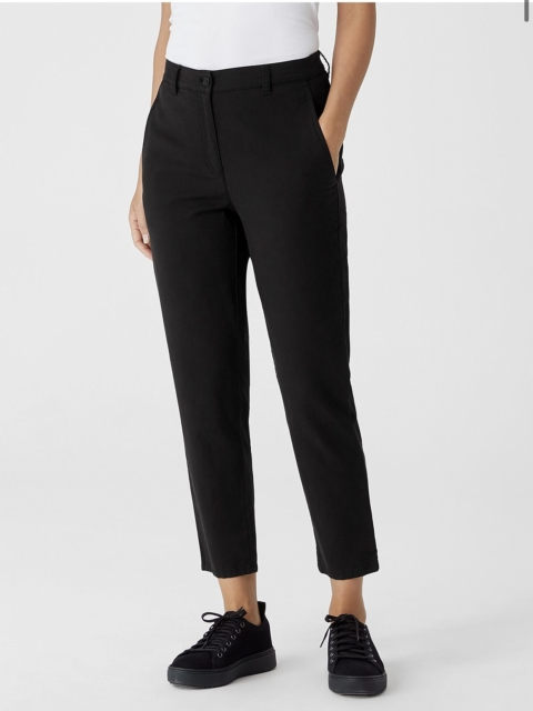 Eileen Fisher Organic Cotton Hemp Tapered Ankle Pant