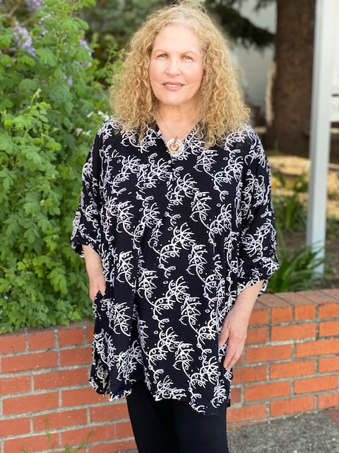 Queenie Blouse-Chalkboard